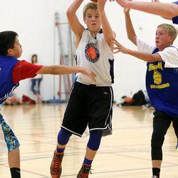 Ben Krystkowiak plays in a Team Camp tournament at the University of Utah in Salt Lake City on Friday, June 12, 2015.
