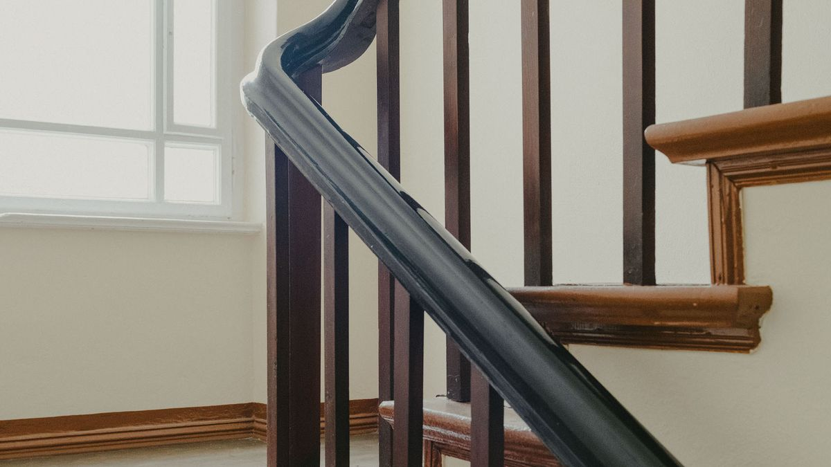 Staircase railing.