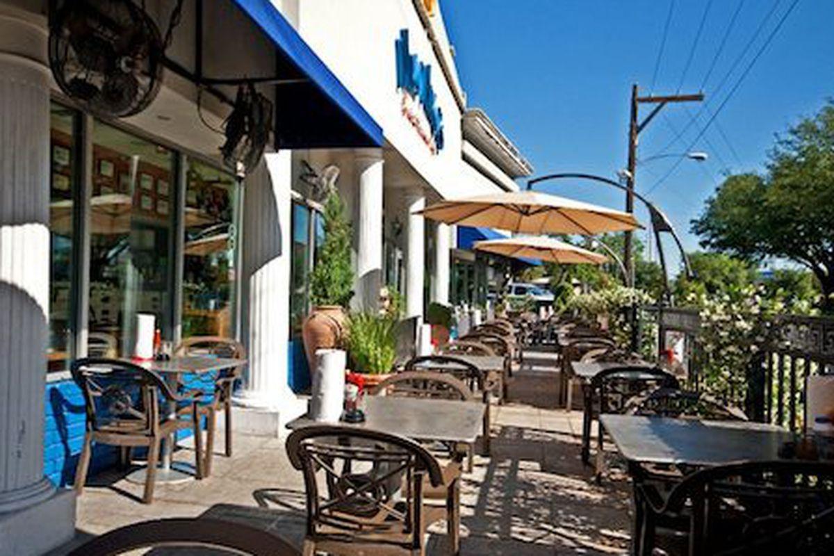 The patio at Niko Niko's in Montrose.