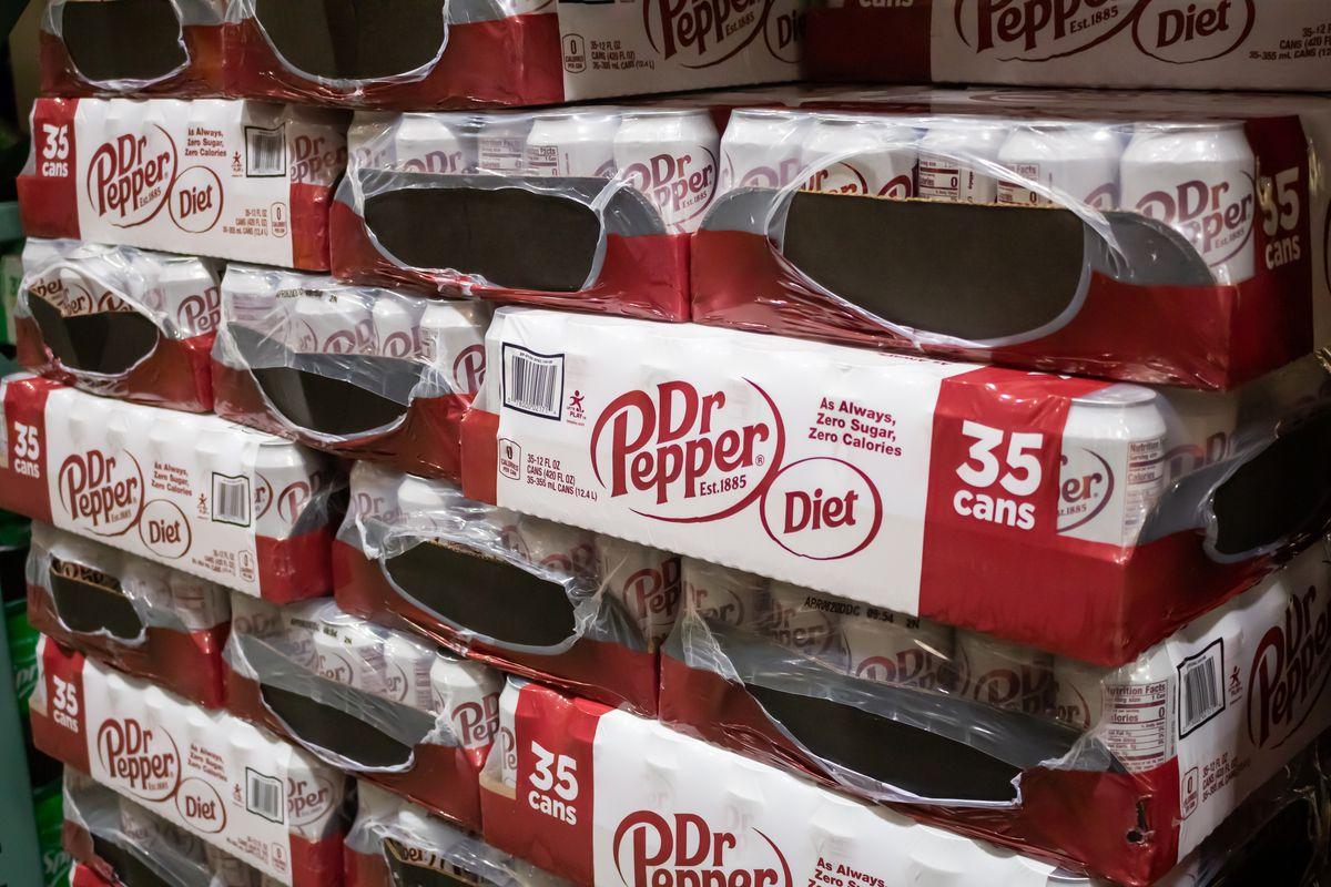 Cases of Diet Dr Pepper.
