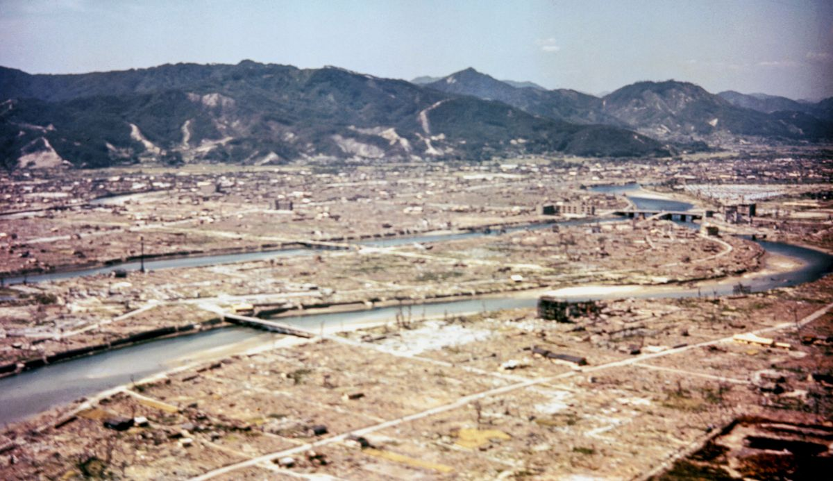 Hiroshima, Japan, after the dropping of the atom bomb, in August 1945.