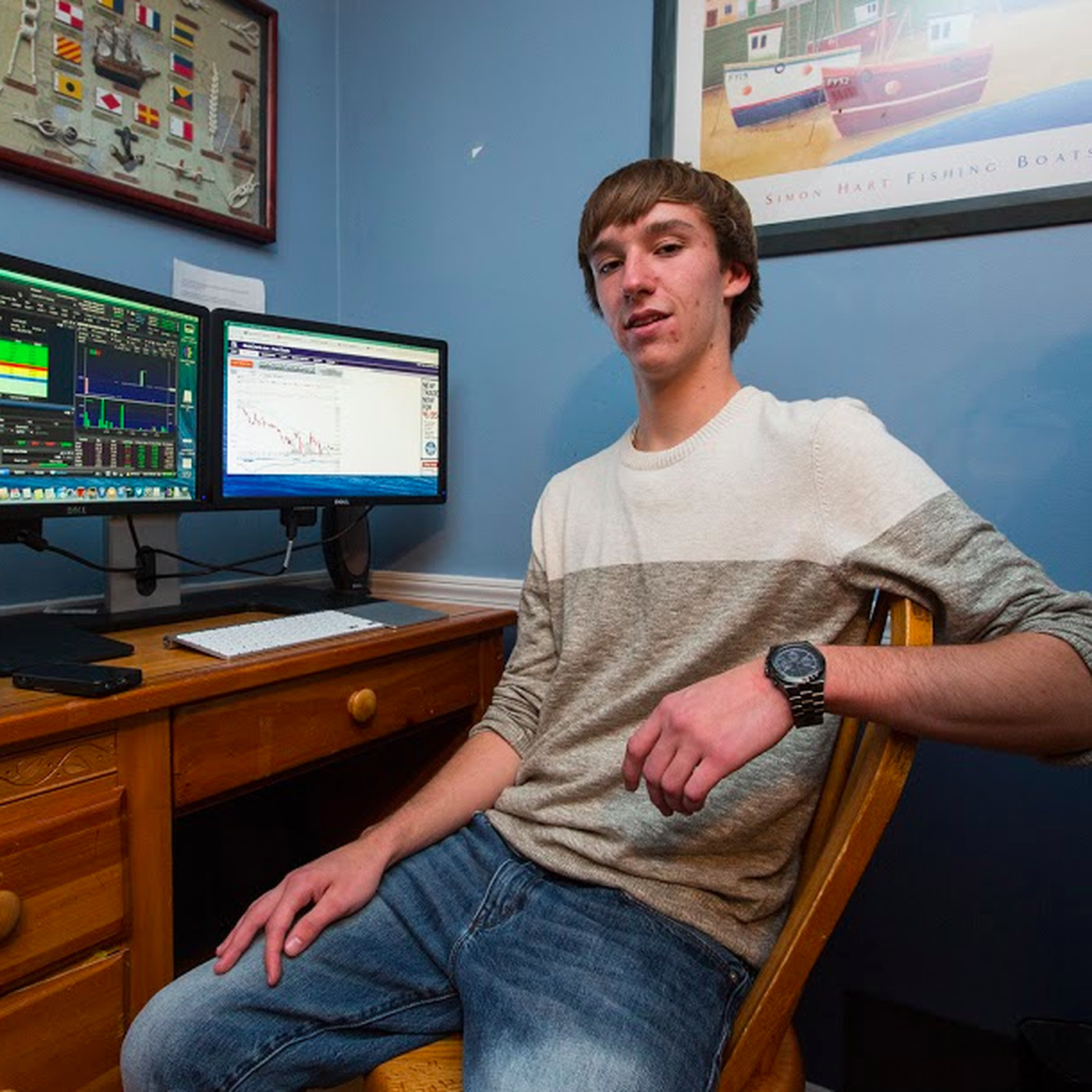 Don T Try This Meet The High Schooler Who Made 300k Trading Penny Stocks Under His Desk The Verge