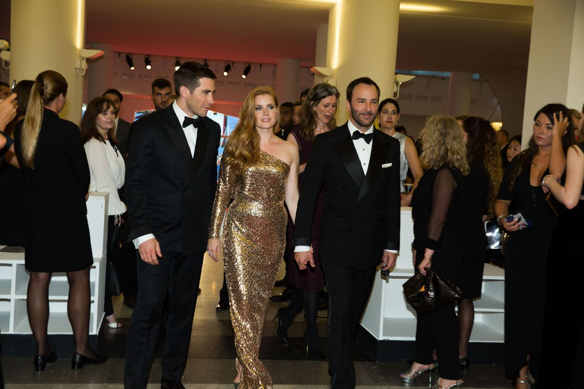 Jake Gyllenhaal, Amy Adams, Tom Ford at the premiere of Nocturnal Animals at the 2016 Venice Film Festival. September 2, 2016 Venice, Italy