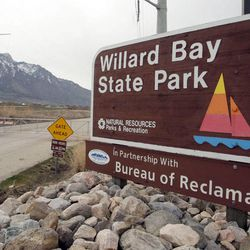 Crews continue cleanup of a Chevron oil spill at Willard Bay State Park Tuesday, March 26, 2013.