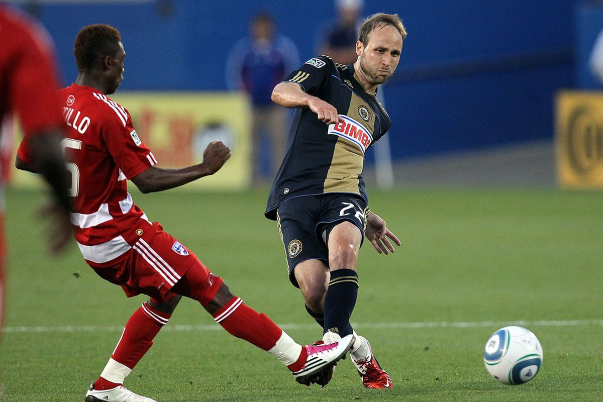After a resurgence for the Philadelphia Union during the second half of the 2010 MLS season, Justin Mapp has disappointed in 2011. (Photo by Ronald Martinez/Getty Images)