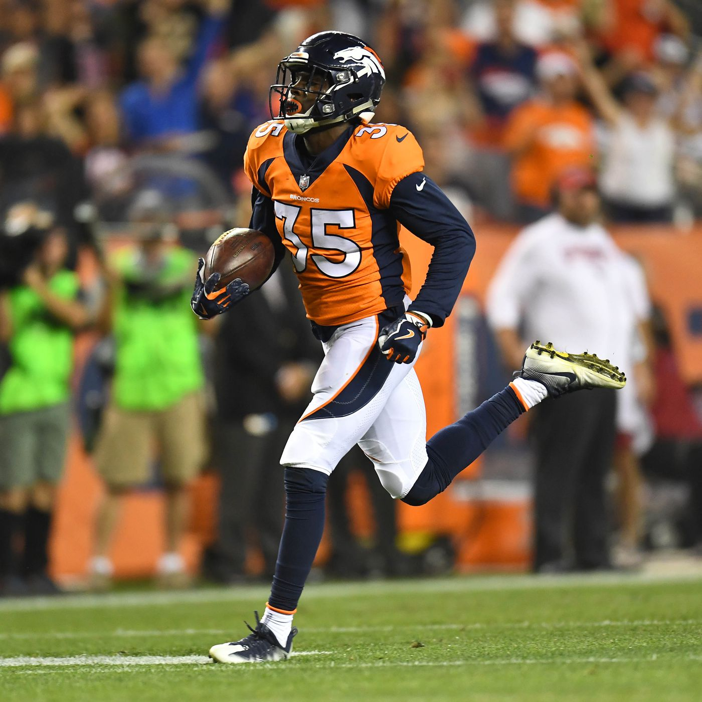 f03d6c2078d Safety Dymonte Thomas made his case to be on the Broncos 53-man roster on  Friday night