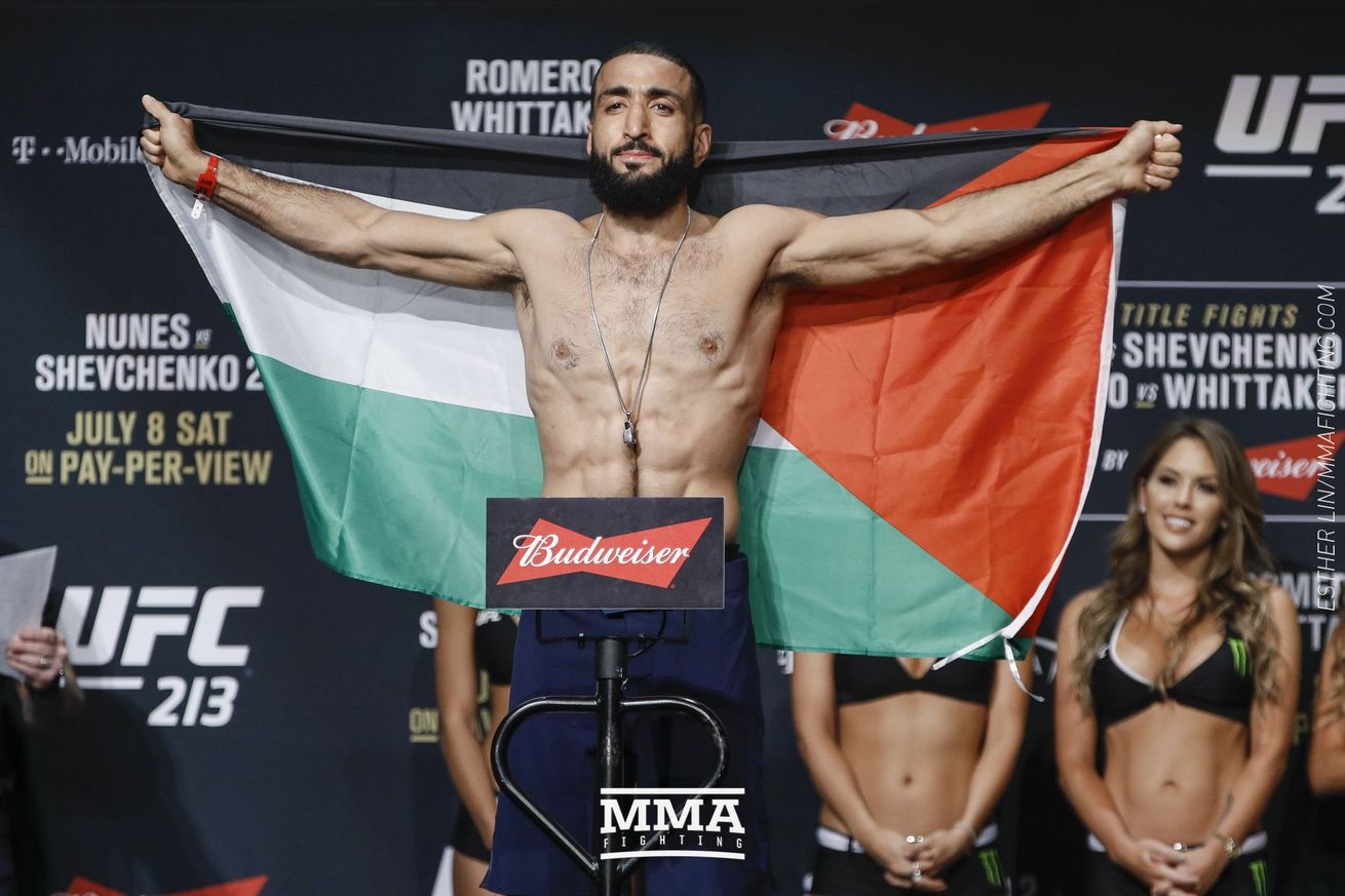 Belal Muhammad (pictured) fights Geoff Neal at UFC on ESPN+ 1 in Brooklyn on Jan. 19