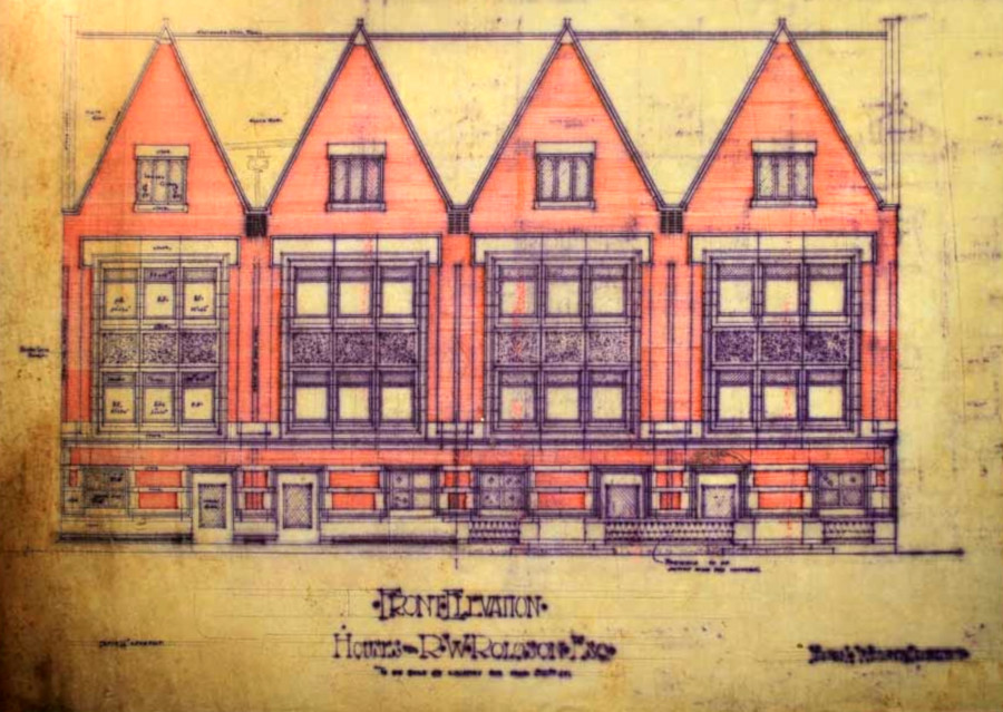 """Frank Lloyd Wright, Robert W. Roloson House drawing, 1894, Chicago, Illinois, is featured in the exhibit """"Wright Before the 'Lloyd'"""" at the Elmhurst Art Museum."""