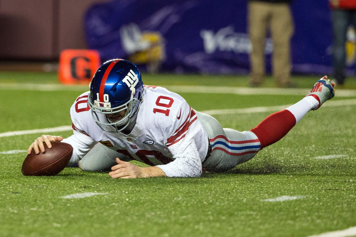 Eli Manning and the Giants were flattened by the Vikings on Sunday