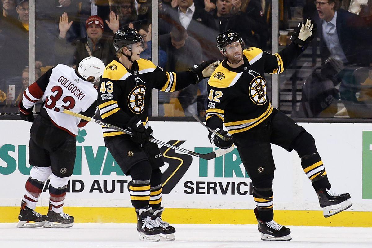 NHL: Arizona Coyotes at Boston Bruins