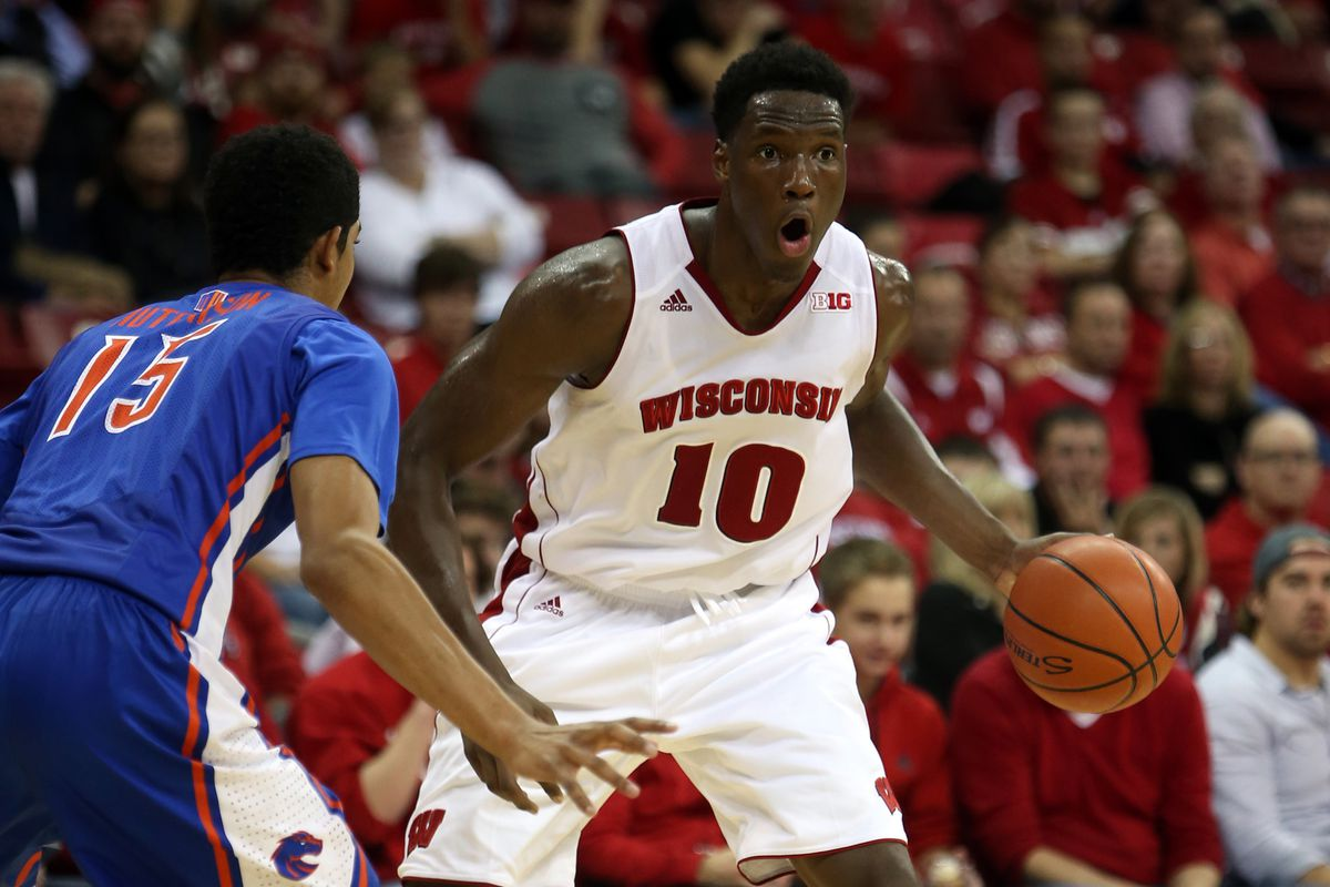 Nigel Hayes has put up B1G numbers this season, averaging 12.6 PPG and 7.4 rebounds