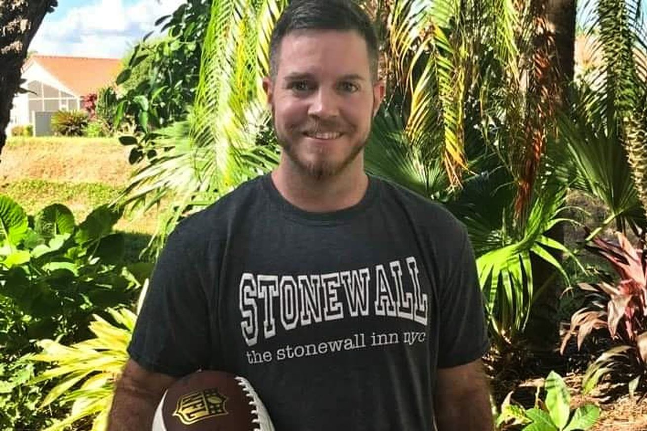 His gay flag football family helped save this trans athlete's life