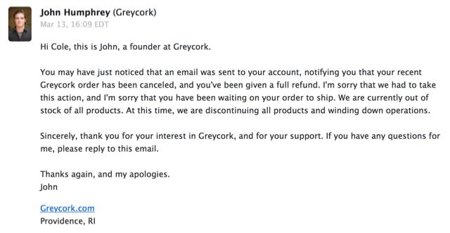 Greycork email