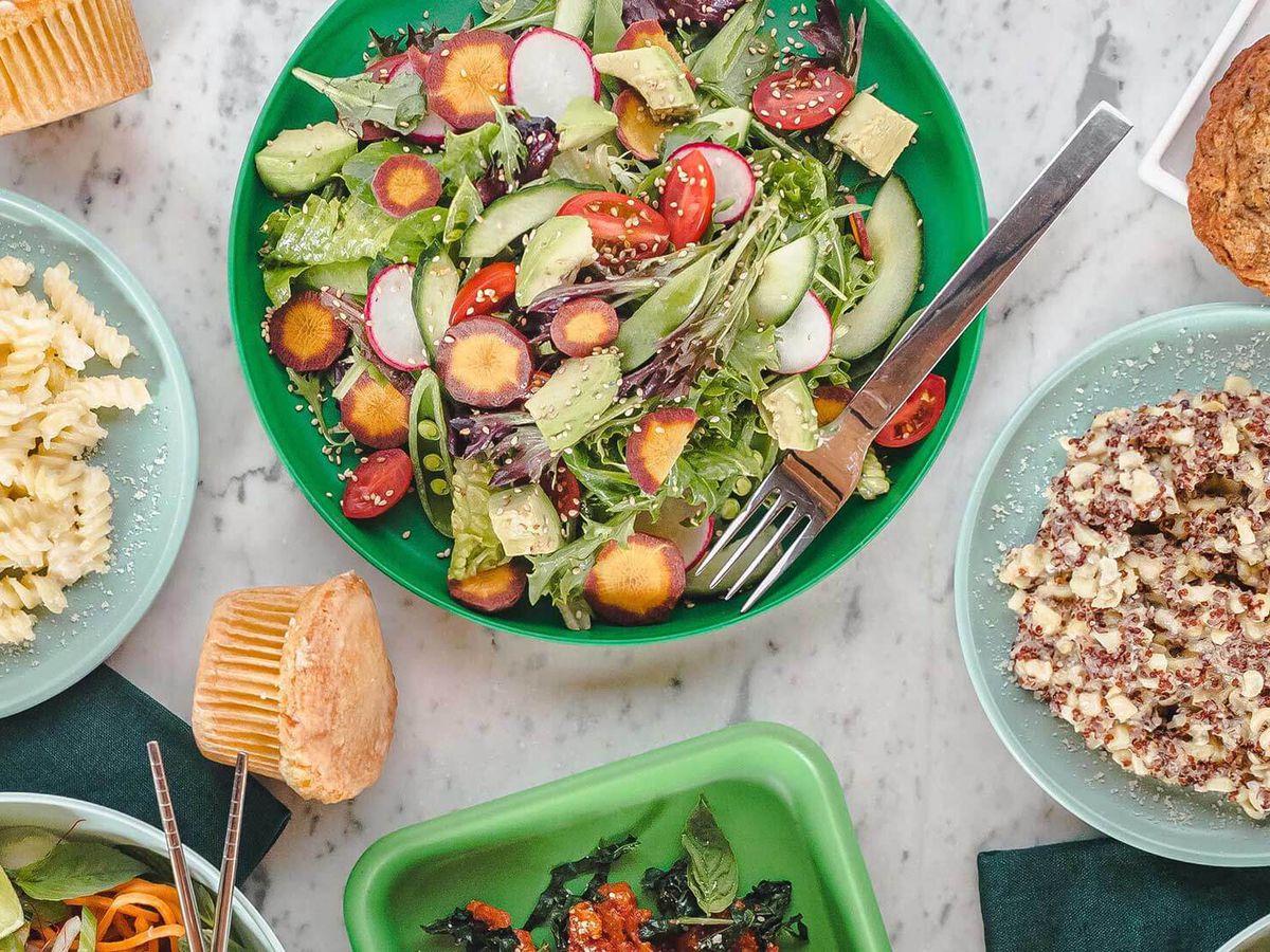 Salad from Flower Child in Santa Monica, California.