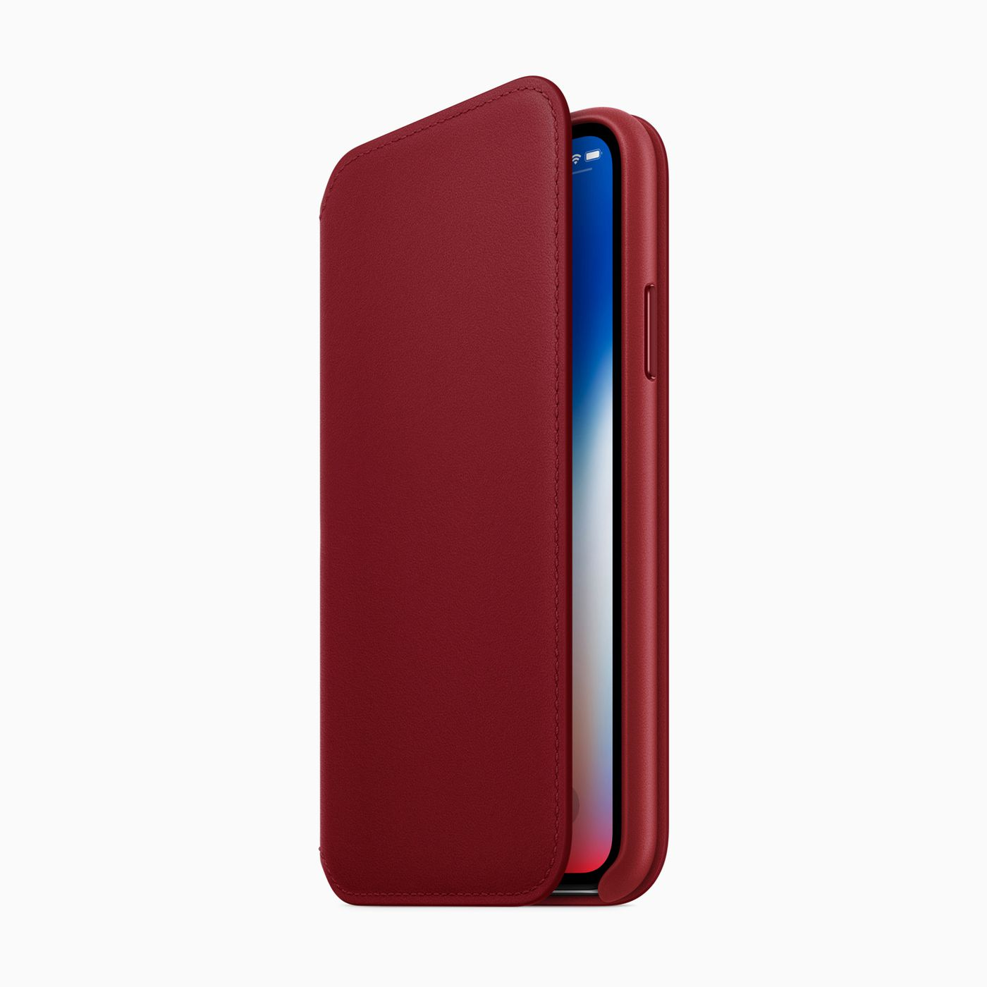 huge selection of 16062 56ef6 The iPhone X gets a RED leather folio - The Verge