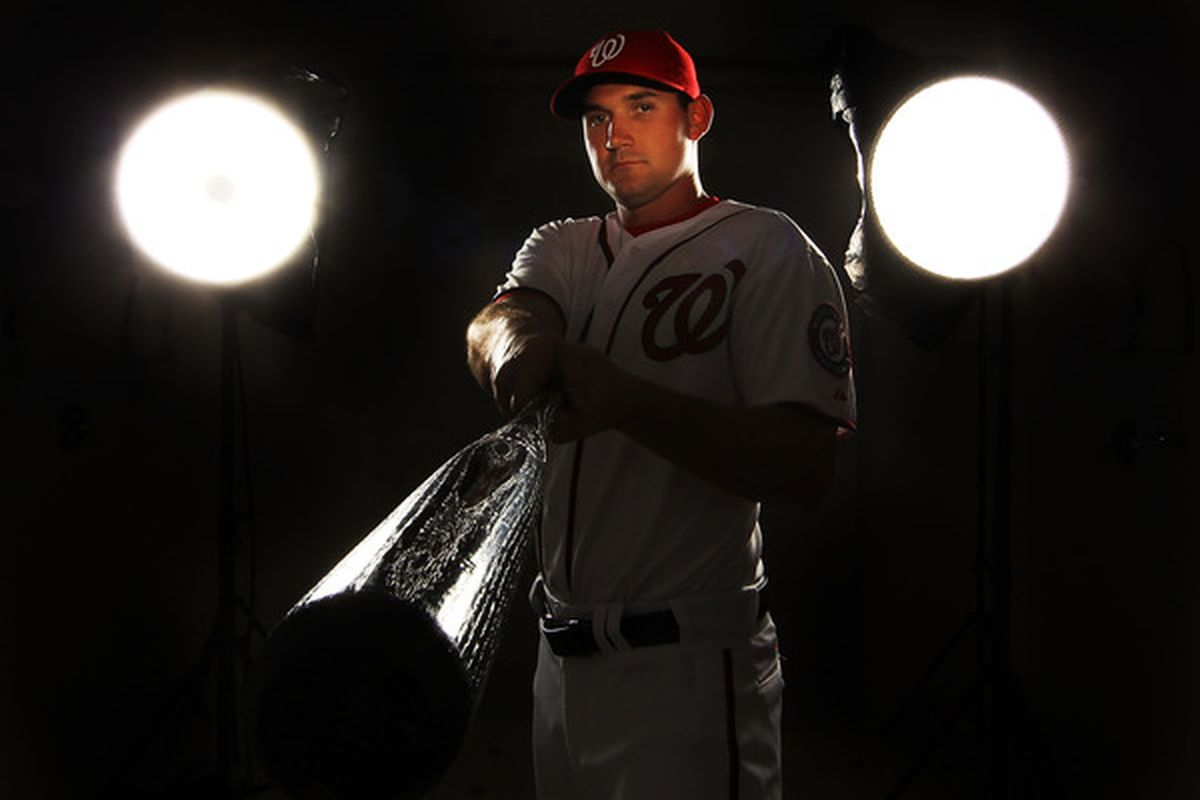 VIERA FL - FEBRUARY 25:  Ryan Zimmerman #11 of the Washington Nationals poses for a portrait during Spring Training Photo Day at Space Coast Stadium on February 25 2011 in Viera Florida.  (Photo by Al Bello/Getty Images)