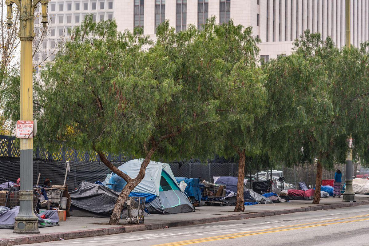 Tents in Downtown LA