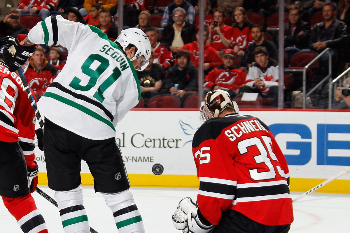 Middle: Dallas' best player; Right: New Jersey's best player; Left: Damon Severson, New Jersey's best young hope.