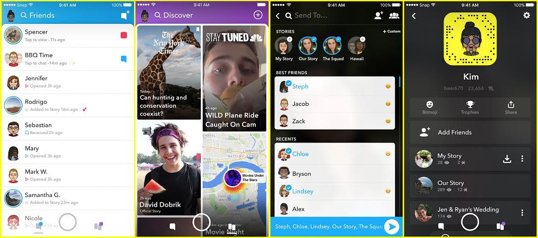 Snapchat introduces a redesigned app that separates your