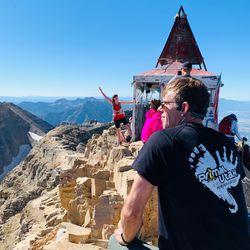 Jason Steed takes in the view from Mount Timpanogos.