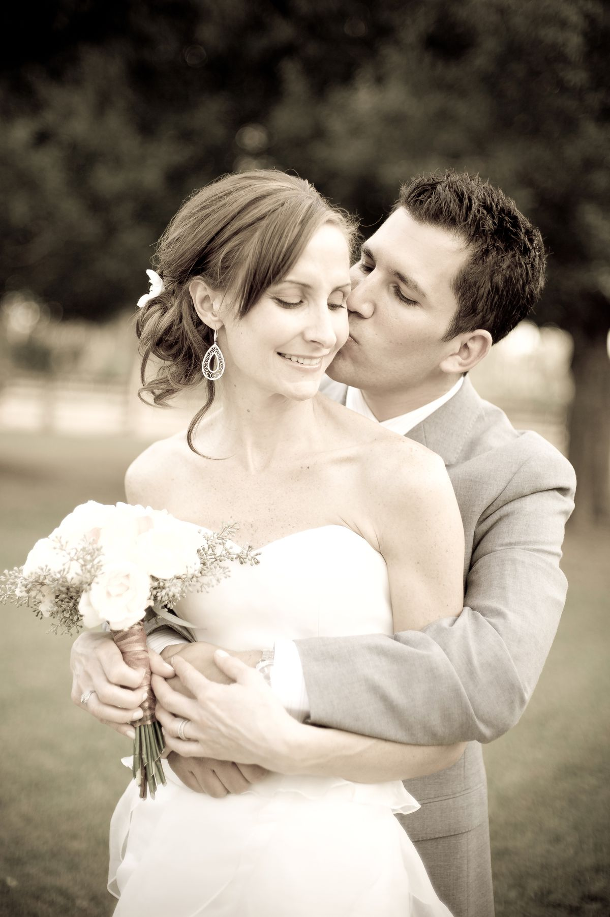 Amy and Pat Tomasulo on their wedding day. | Provided Photo