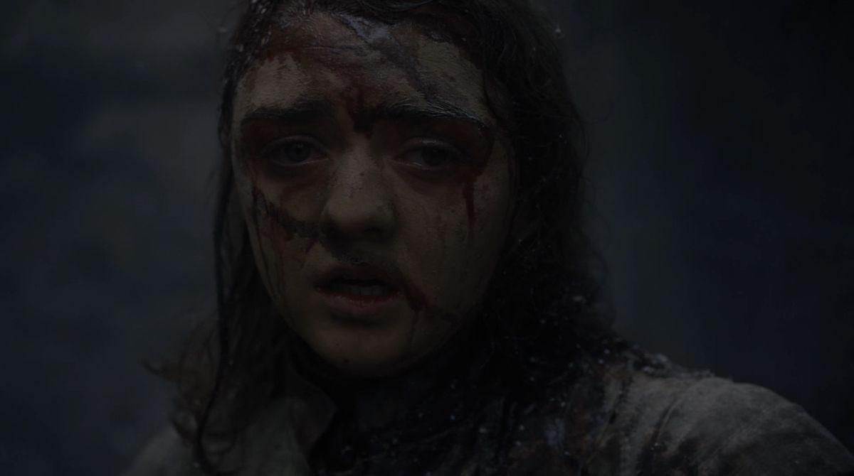 Game of Thrones S08E05 Arya shellshocked