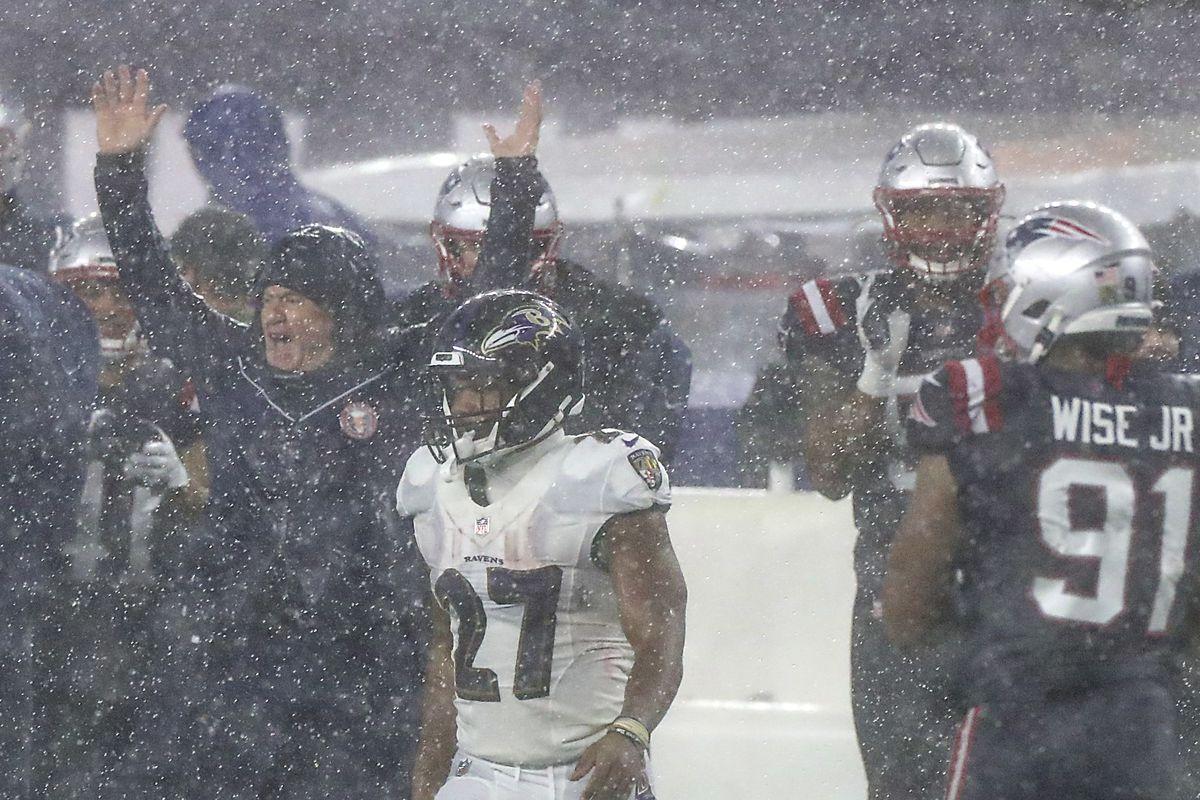 Baltimore Ravens Vs. New England Patriots At Gillette Stadium