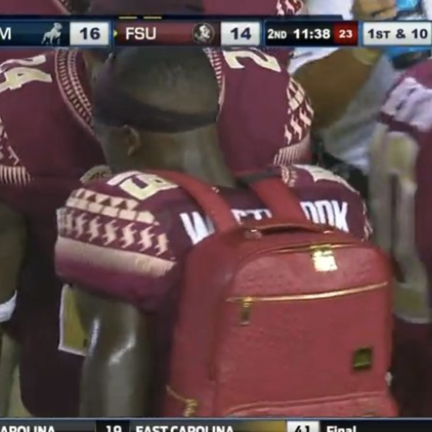 6dccd748993 FSU has a backpack for a sideline trophy