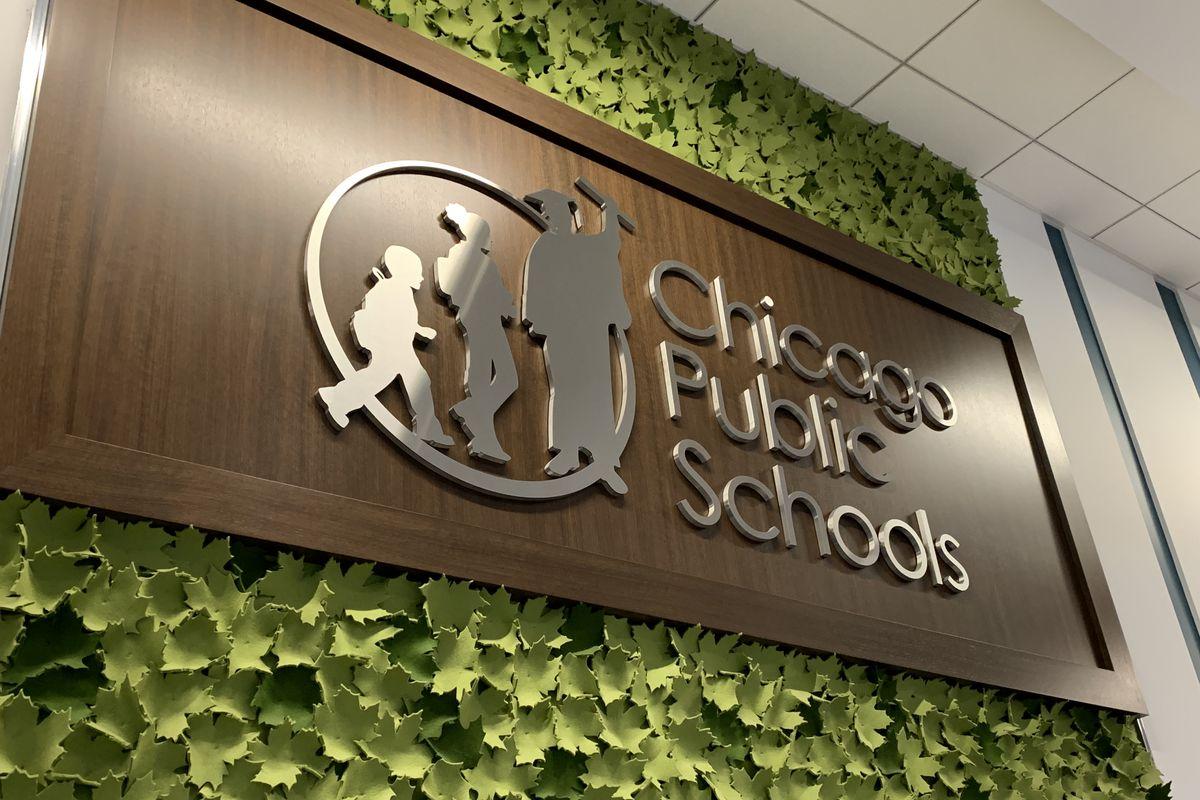 Logo at Chicago Public Schools headquarters.
