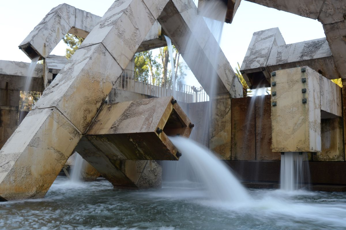 Vaillancourt Fountain at Justin Herman Plazain 2012.