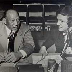 Hot Rod Hundley interviews Jesse Owens. Hot Rod, the voice of the Utah Jazz, was inducted this week into the Baketball Hall of Fame in the writer-broadcaster wing -- the only former player ever to win such an honor.