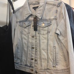 Theory light was denim jacket, $63 (from $415)
