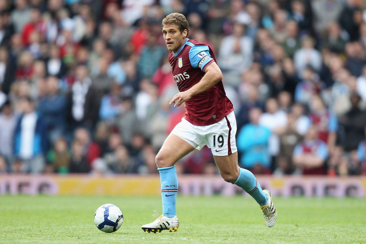 BIRMINGHAM, ENGLAND - MAY 09: Aston Villa Captain, Stiliyan Petrov in action during the Barclays Premier League match between Aston Villa and Blackburn Rovers at Villa Park on May 9, 2010 in Birmingham, England. (Photo by Warren Little/Getty Images)