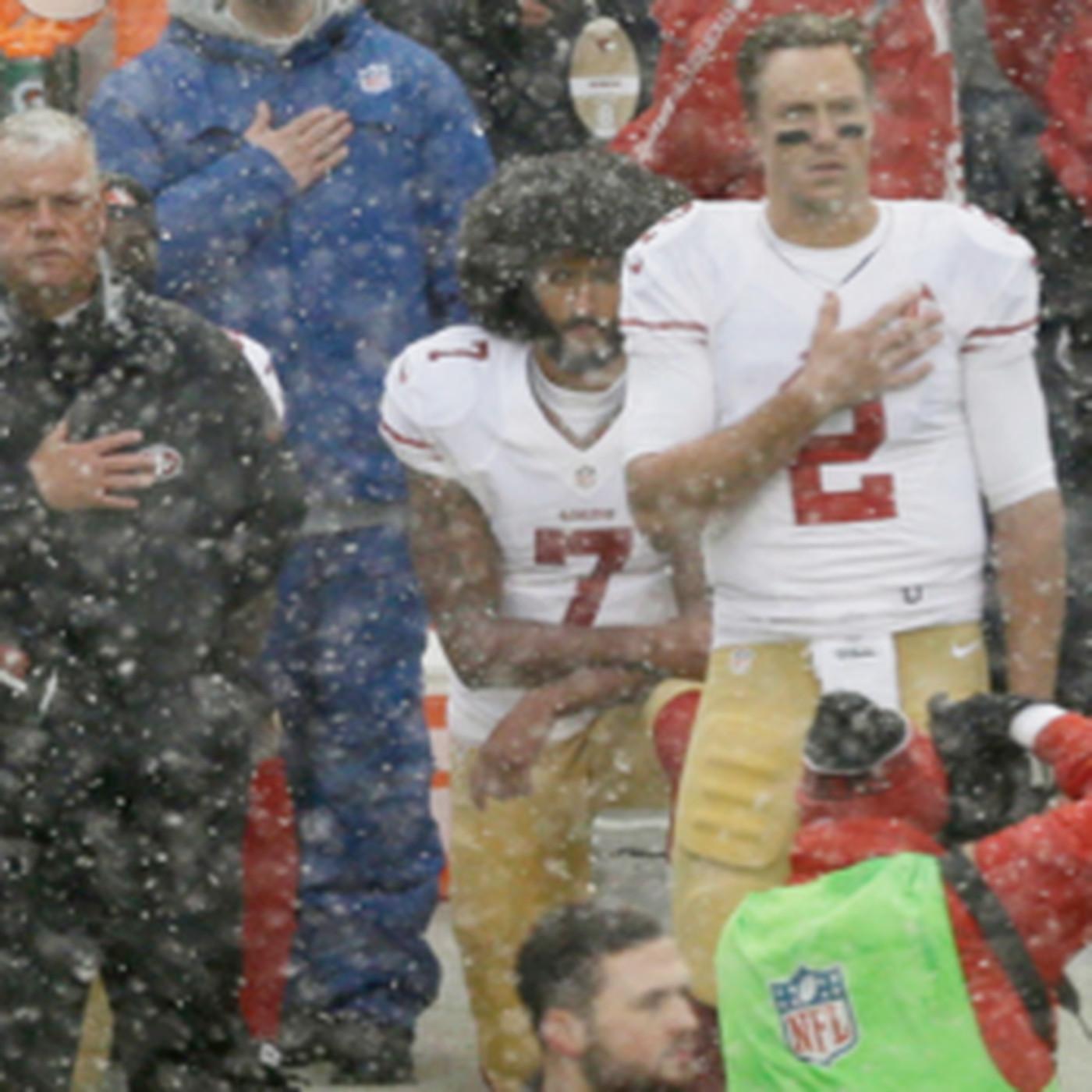 premium selection 6a236 3d971 Source: Colin Kaepernick won't be kneeling for anthem ...