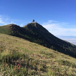 There is a beautiful view from the climb during Crazy Bob's Bairgutsman Saturday.