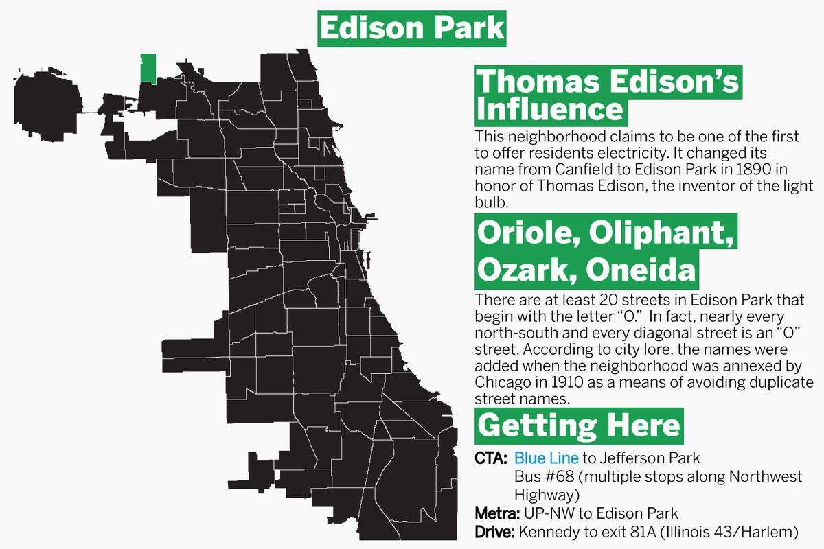Edison Park is in the far Northwest corner of Chicago. | Graphic by Tanveer Ali