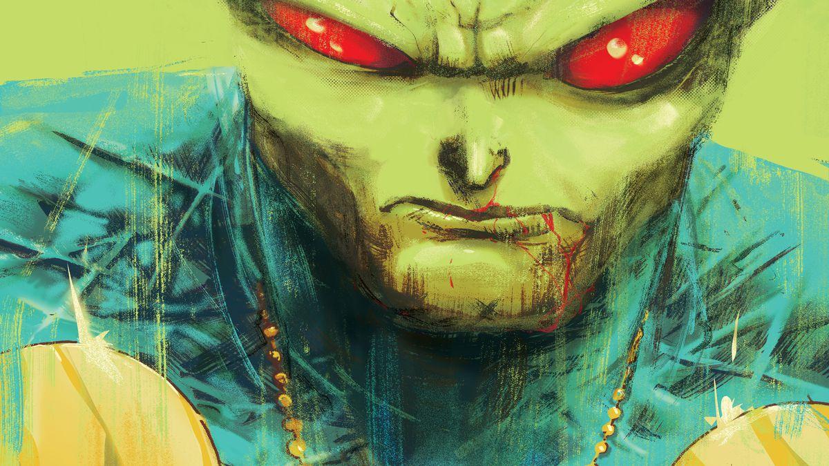 Textless cover of Martian Manhunter #1, DC Comics (2018).