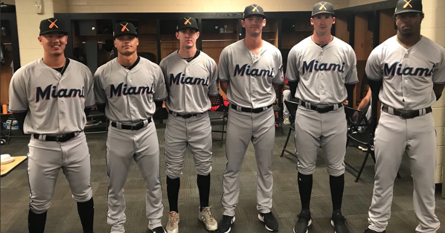 Marlins_prospects_afl_new_uniform