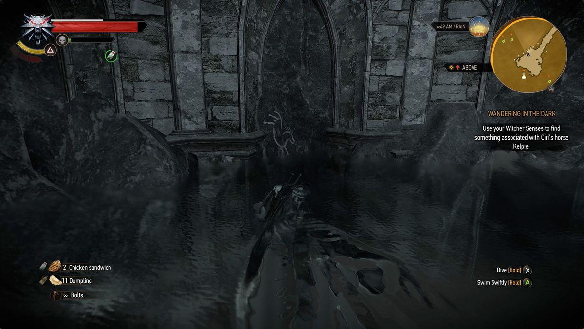 Witcher 3 Wandering in the Dark horse Kelpie symbol