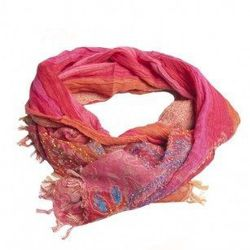 """Faith printed <a href=""""http://www.aftershockplc.us/accessories/faith-printed-scarf.html"""">scarf</a>, $100"""