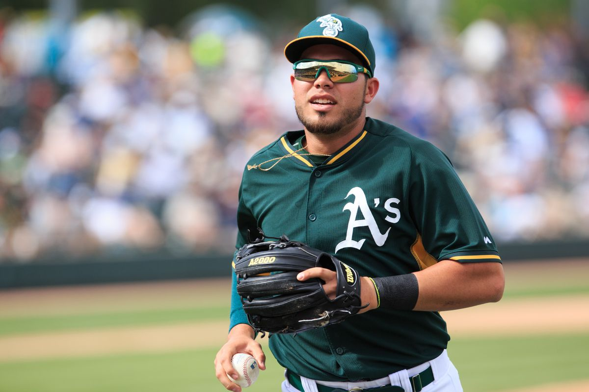 Renato Nunez, pictured here, was one of three Oakland A's prospects named to the Arizona Fall League Fall Stars Game roster.
