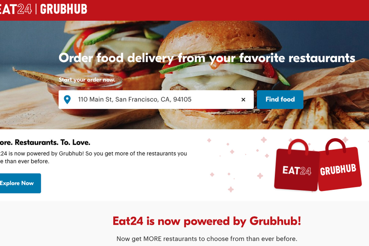 Grubhub Closing Food Delivery Service Eat24 Eater Sf