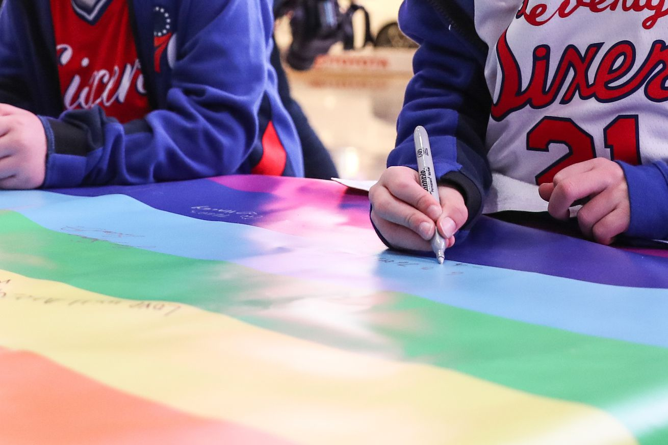 This pic from the 76ers' Pride Night gives us so much hope for the future