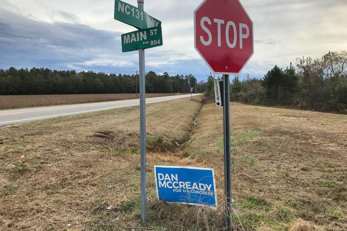 "362626d5 A ""Dan McCready for Congress"" campaign sign still stands along NC-131 near  the Bladen County town of Tar Heel, North Carolina. Carli Brousseau/Raleigh  News ..."