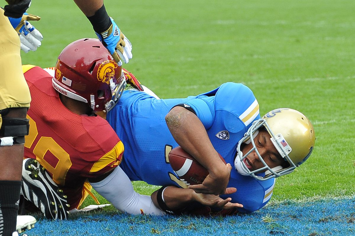 Another tackle by $C after UCLA has scored a touchdown- let's see more of these on Saturday