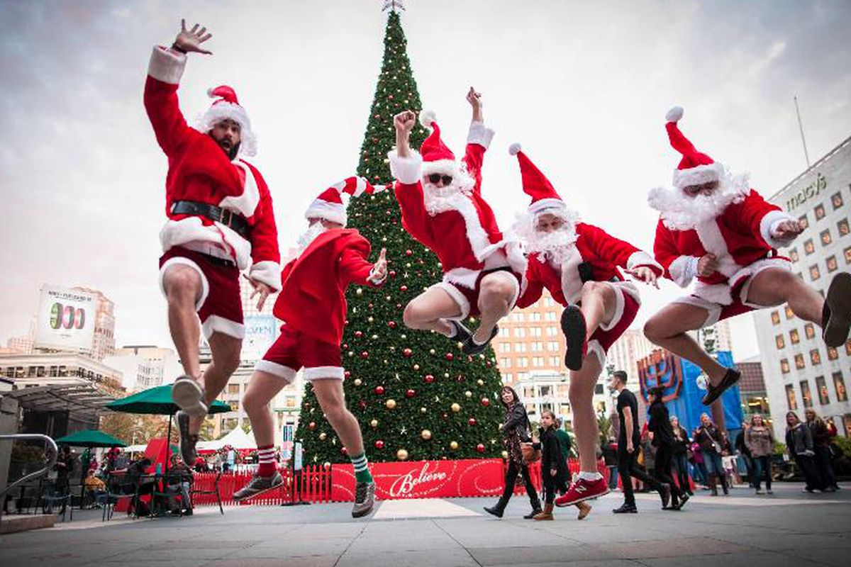 """The Chubbies guys are up to their usual holiday hijinks. Photo via <a href=""""http://www.chubbiesshorts.com/pages/welcome-to-black-tie-friday"""">Chubbies</a>."""