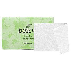 """Boscia <a href=""""http://www.sephora.com/green-tea-blotting-linens-P61217"""">blotting linens</a> ($10) are ideal for on-the-go shine control. The fibers absorb oil and perspiration, leaving you with matte finish makeup. The credit-card sized package is flat,"""