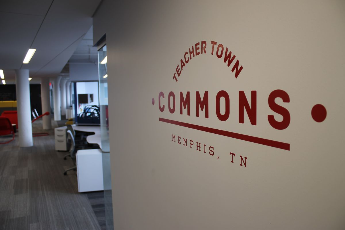 Offices for Memphis Education Fund collaborators are housed in a downtown Memphis building known as Teacher Town Commons.