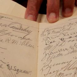 Autographs from the party