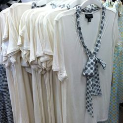 Surprised no one wanted the short-sleeve cream tee with tie.